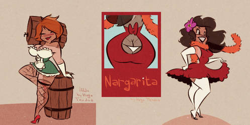 Commission - Hilda and Nargarita by HugoTendaz