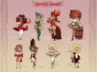 Erotic Haunt - Ghost Girls Line Up - Comic Concept