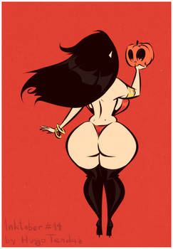 Inktober2017 - 14 - Vampirella and Her Big Pumpkin