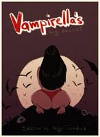 Vampirella's Big Secret - Cartoon PinUp Sketch by HugoTendaz