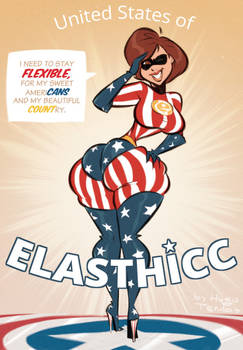 Helen Parr - ElasTHICC - Commission by HugoTendaz