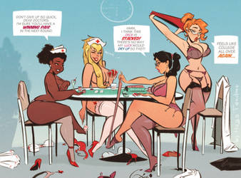 Strip Poker - Cartoon PinUp Sketch Commission