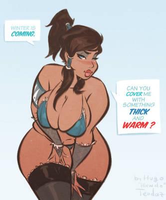 Korra - Winter is Coming - Cartoon PinUp Sketch