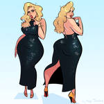 Thicc Anna Nicole Smith - Cartoon PinUp Commission