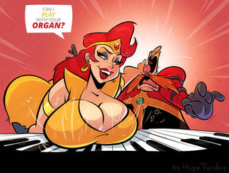 Katella and Dr. Robotnik - Organ - Commission by HugoTendaz