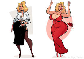 Anna Nicole Smith - Thick to Thicc - Commission