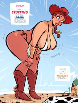 Jessie - Stuffing - Cartoon Pinup Commission