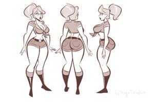 Veronica Wilde - Turnaround - Sketch Commission