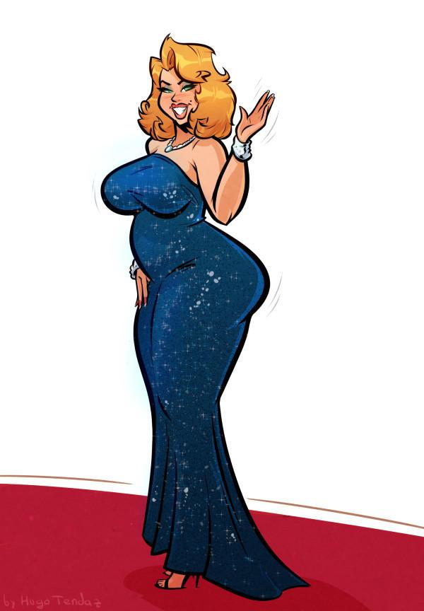 Anna Nicole Smith Red Carpet Cartoon Pinup By Hugotendaz On Deviantart