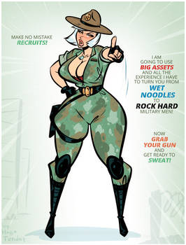 Sunny - Thrill Sergeant - Cartoon PinUp Commission