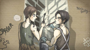 Eren and Levi drawing - AOT
