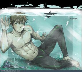 Makoto in The Fish Tank - Free!
