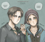 Cool Levi and Cute Eren- Attack on Titan