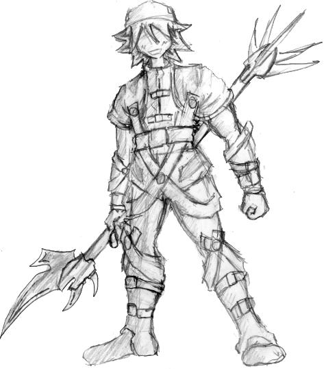 cool armor guy sketch by doji on DeviantArt