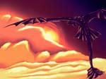Night Fury Sunset Flight