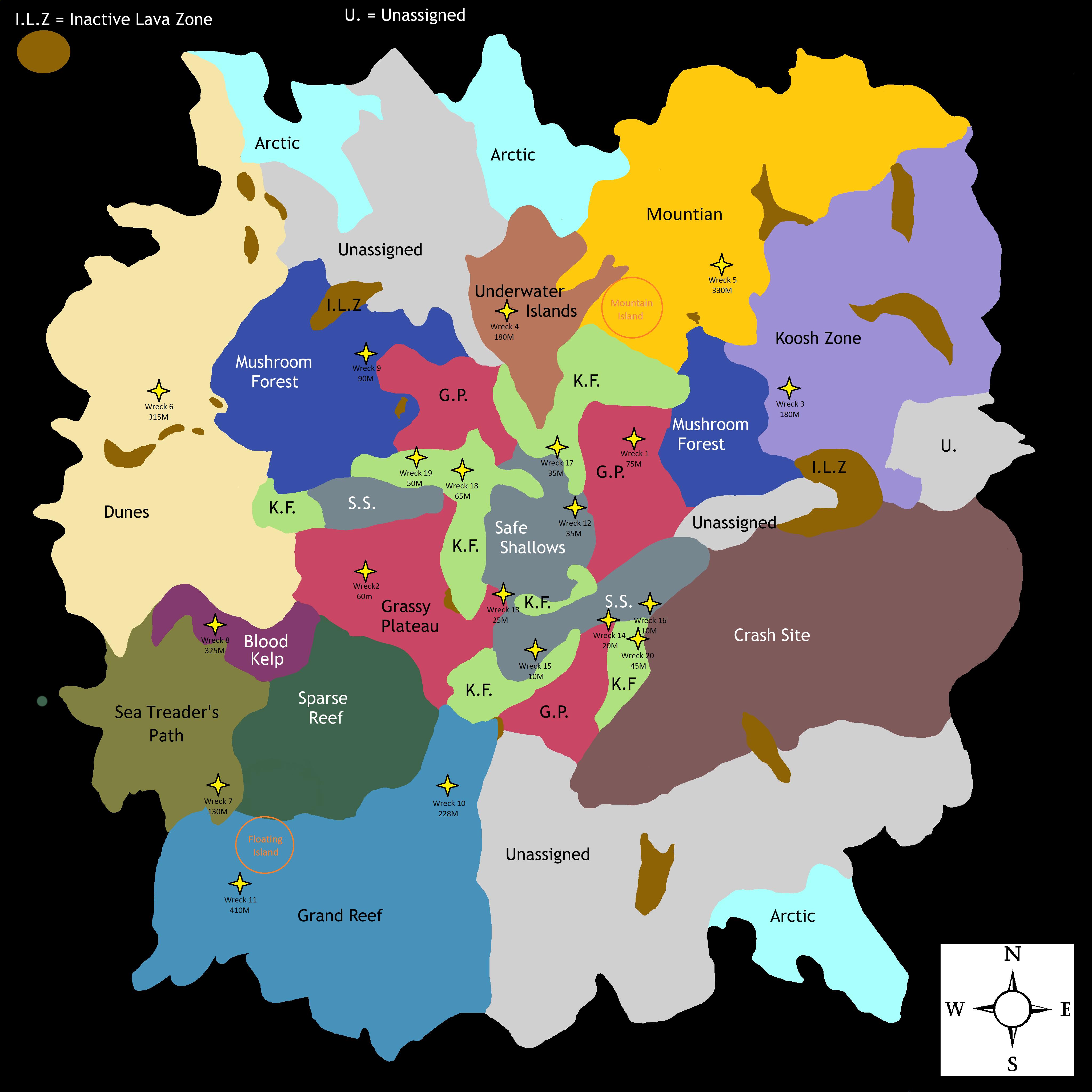 Subnautica Karte.Subnautica Wreck Map By Iamzid On Deviantart