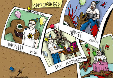 Serious Sam's Birthday Party by DCPX-12
