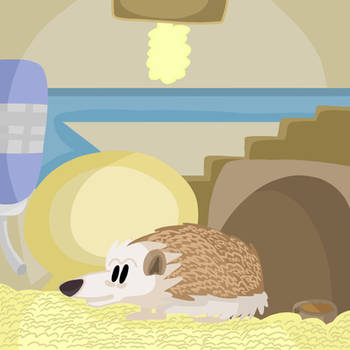 Hedgy The Hedgehog. by 21WolfieProductions
