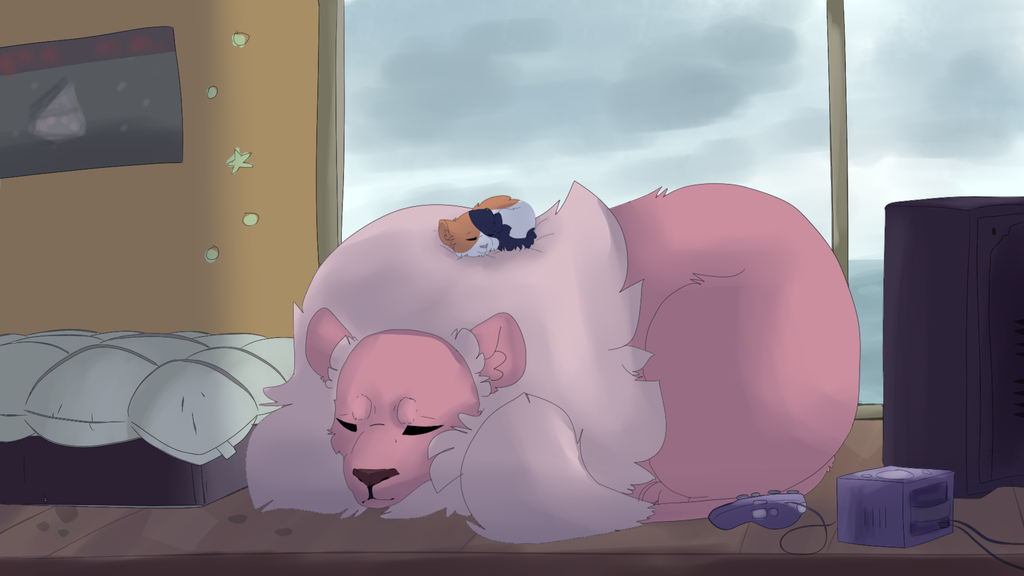 Spoilers for the new Steven Universe episodes Here be Steven's Lion and Garnet's new kitten named Cat Steven! At the end of the episode it showed Lion and Cat Steven sleeping and I thought it was a...