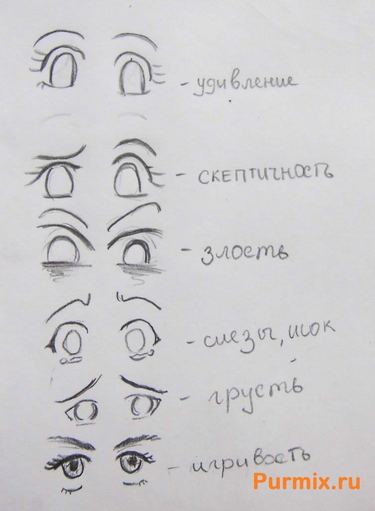 Как рисовать аниме поэтапно карандашом