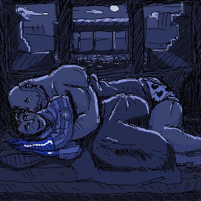 TF2 Out Of The Closet Heavy_Night_oekaki_by_Tristikov