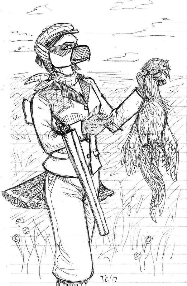 Viktoria out Hunting by Tristikov