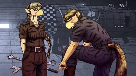 Mayfaire and Moorsley - Mechanic Pinup
