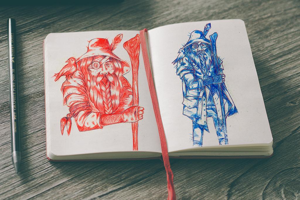Sketchbook 12 by Jaaaiiro