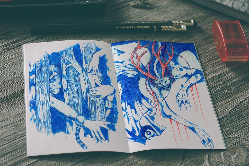 Sketchbook 13 by Jaaaiiro