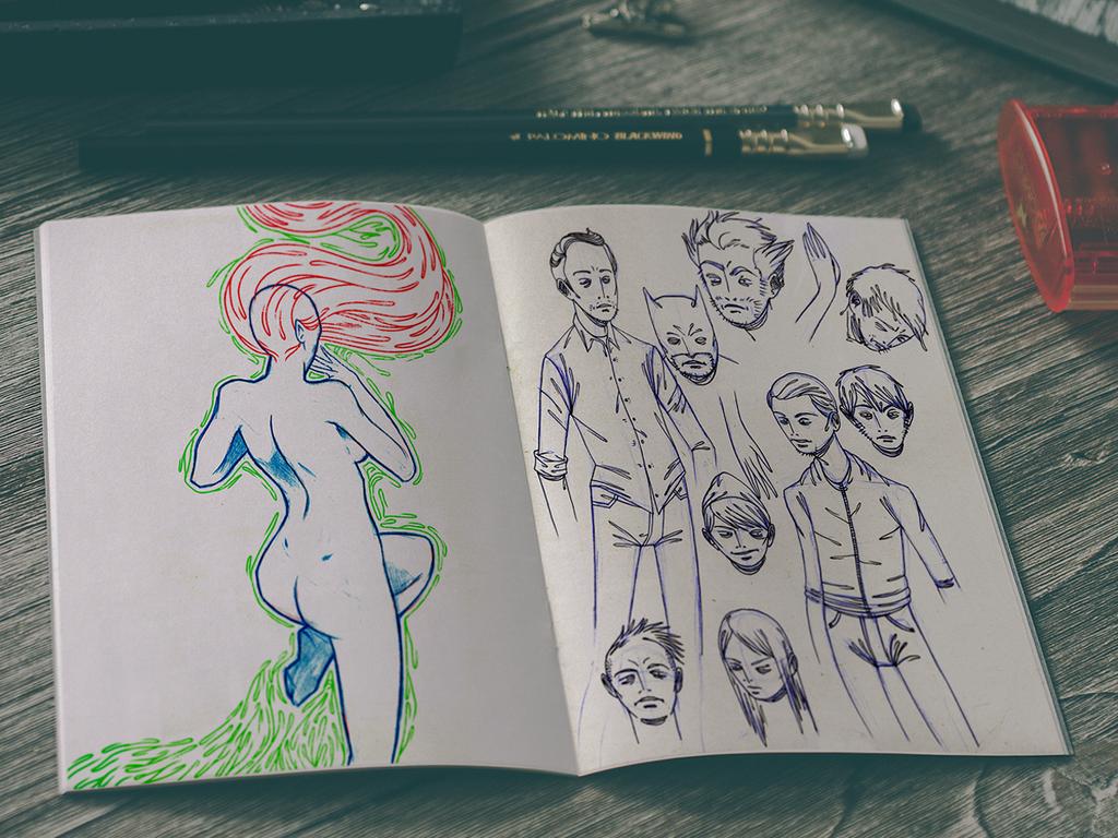 Sketchbook 17 by Jaaaiiro