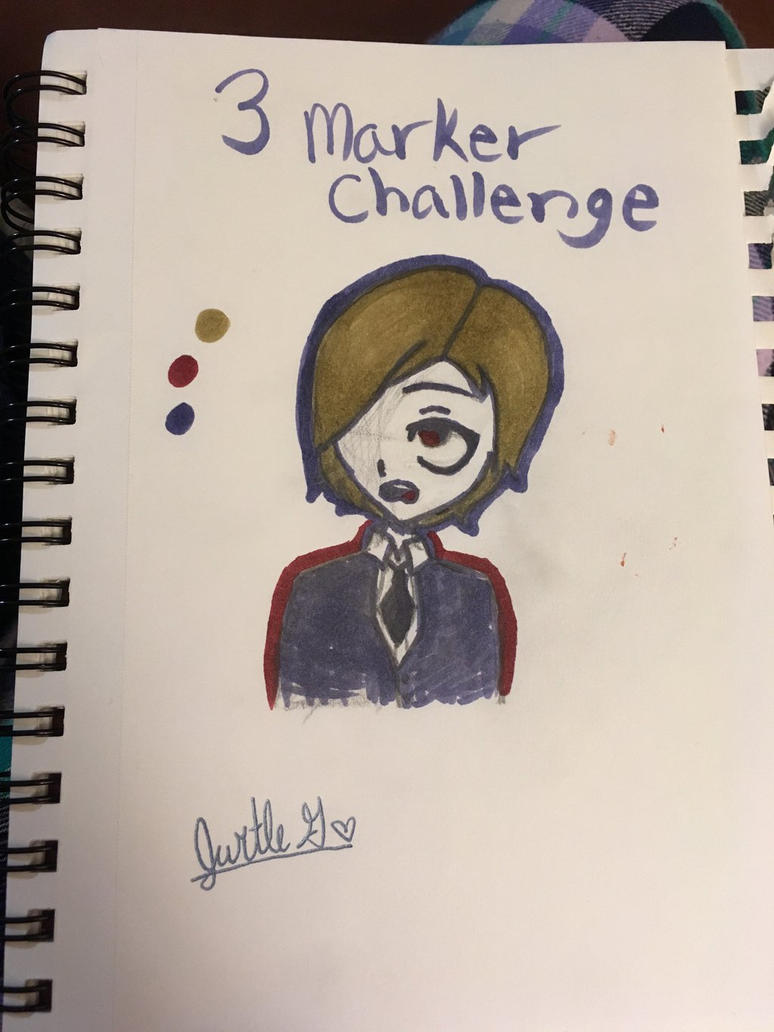 3 marker challenge  by LemonEnchilada