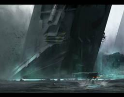 Sci-fi sketch by VictorMosquera