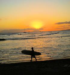Perfect surf in Waikiki