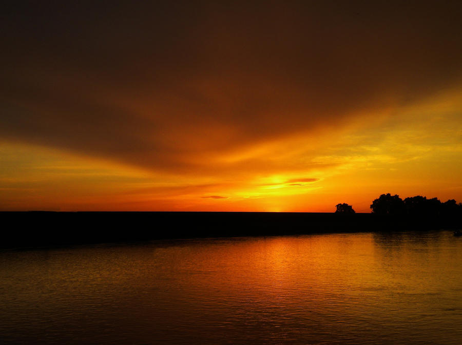 Sunset on Fire by Marilyn958