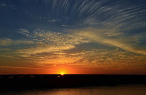 Delicate Clouds Sunset by Marilyn958