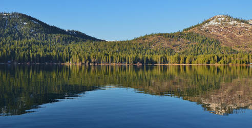 Donner Lake Tree Line Reflections