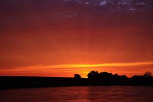 Sun Beams Sunset