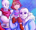Skeleton bro's and tiny human