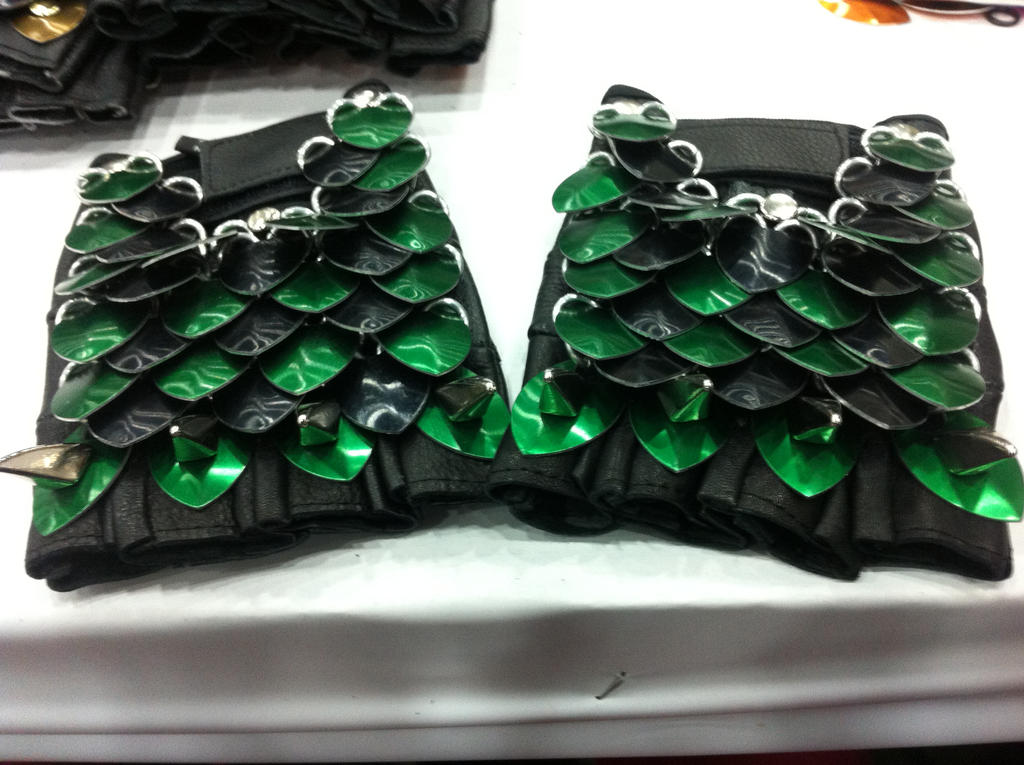 Green Scale Gloves by MetalArtisan