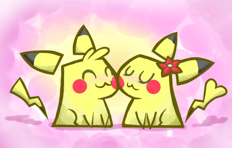 Pikachu Couple by sergiomonty