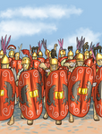 Roman hastati by AmonVDB