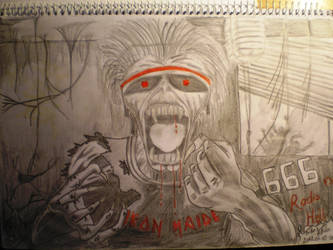 Old drawing Iron Maiden by FabosAti