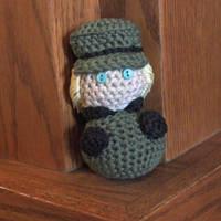 Hand Crocheted Hetalia Chibi - Germany by hookedonchibis