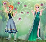 Anna and Elsa Frozen Fever