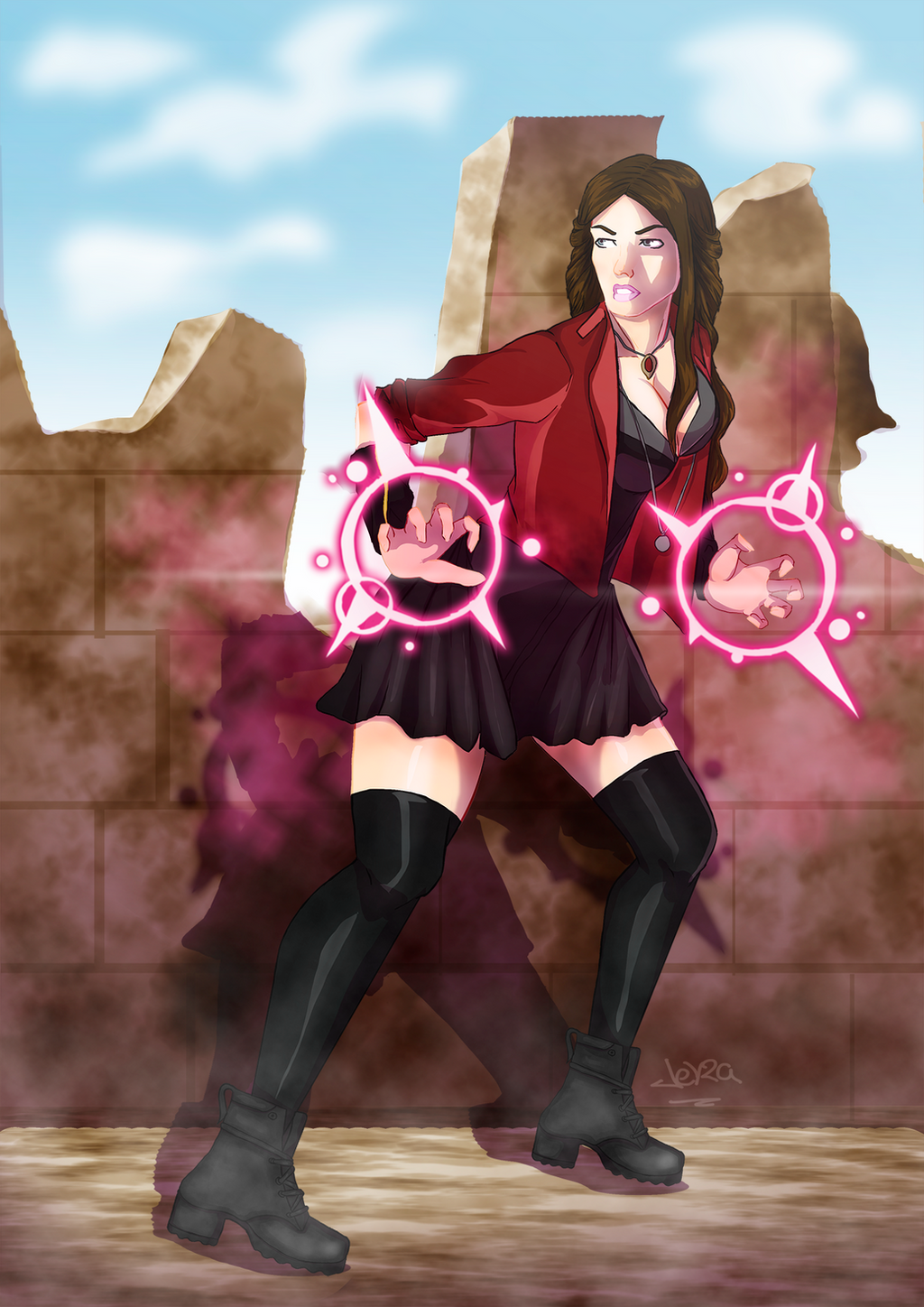 Scarlet Witch Age of Ultron by JeyraBlue