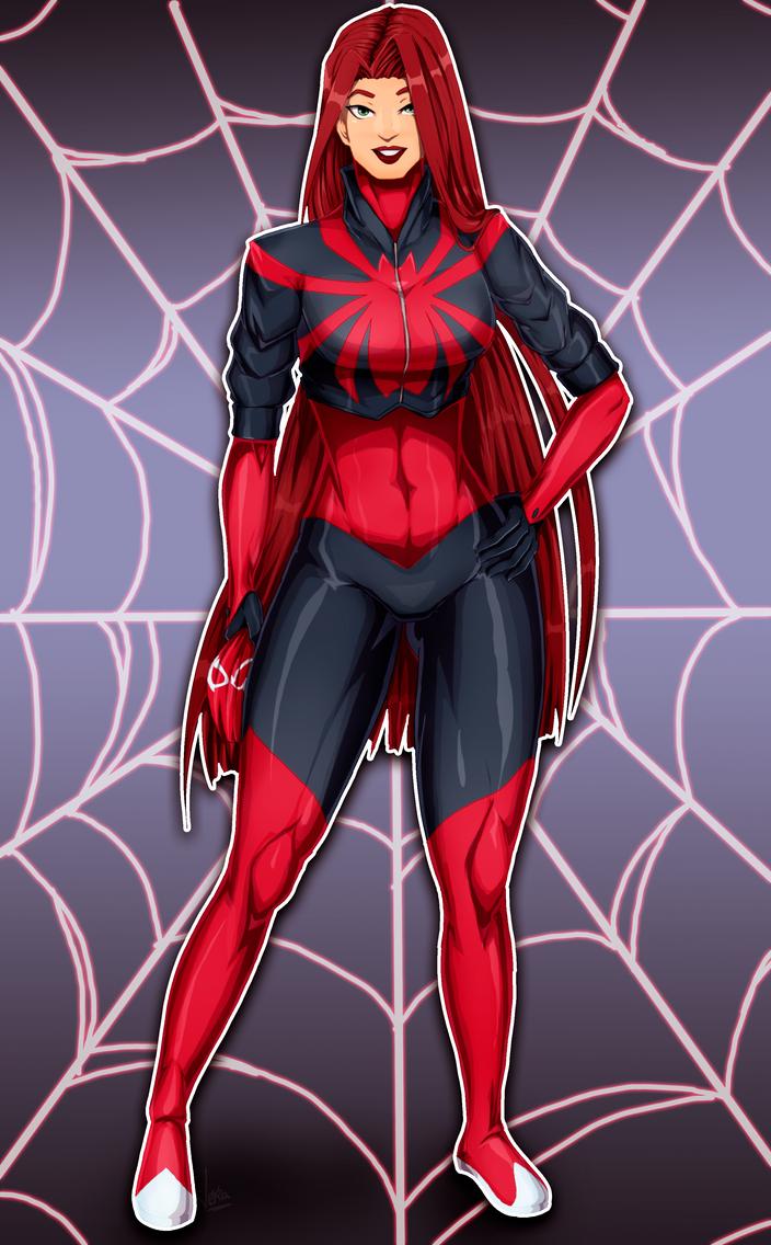 Scarlet Spider - Mary Jane by JeyraBlue on DeviantArt