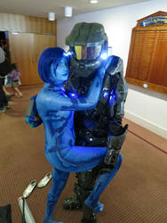 Cortana- halo3 cosplay by Rahxephon786