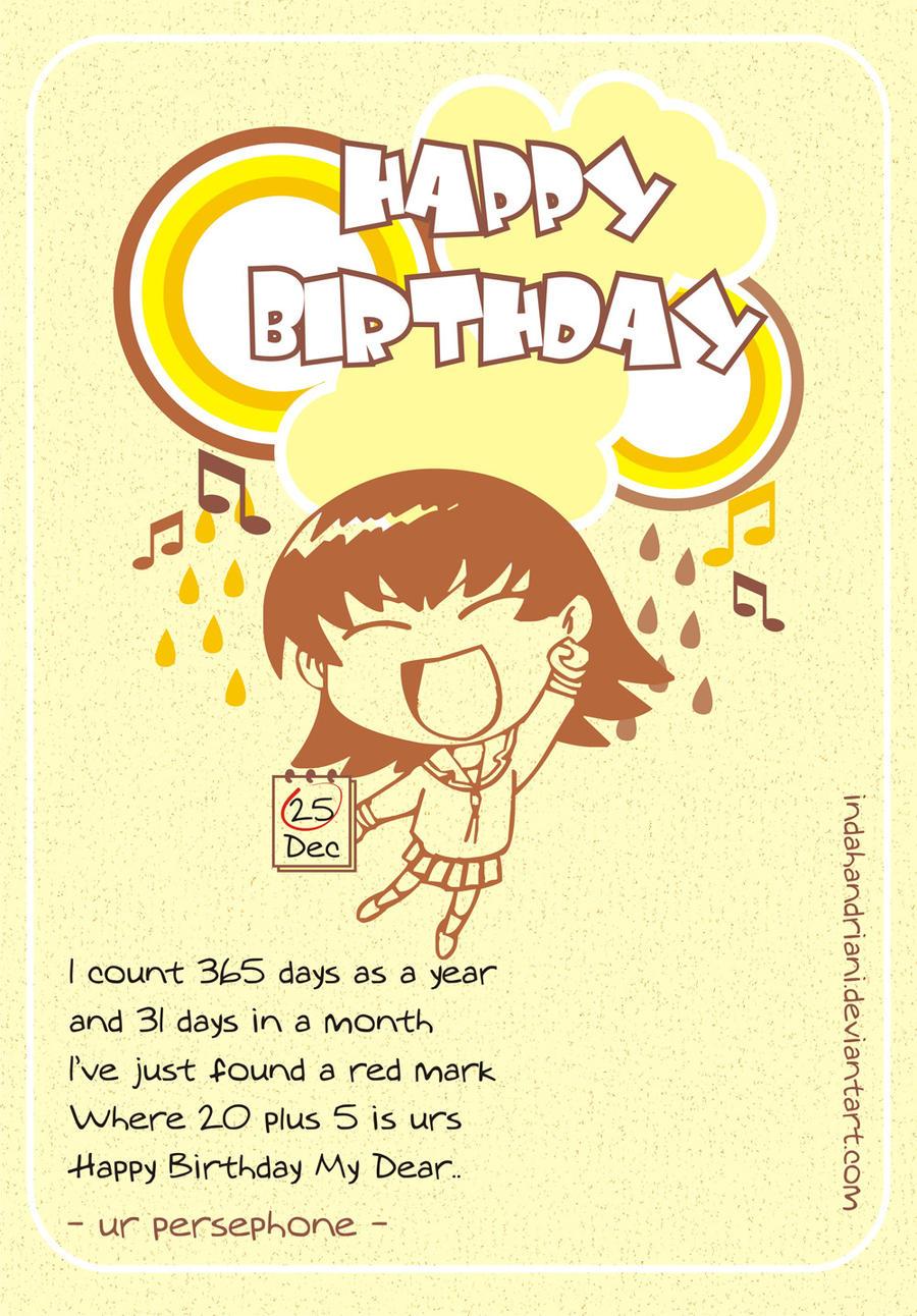 Happy Birthday 2 My Hades by indahandriani