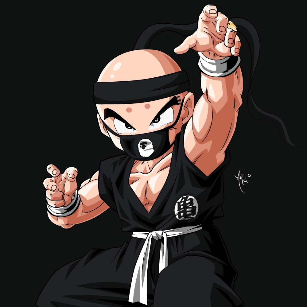 Krillin Black Outfit By Akaithedesigner On Deviantart
