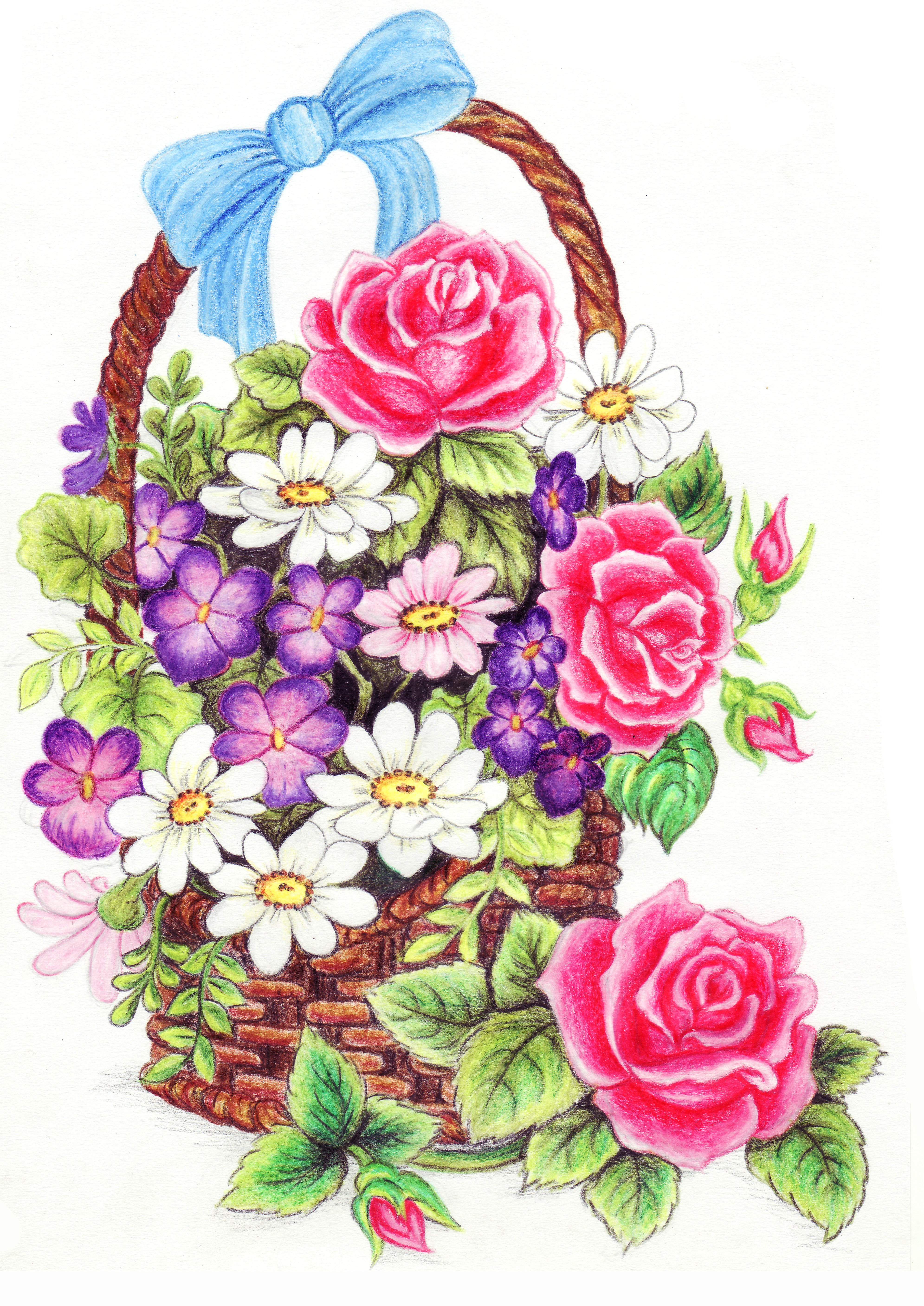 flower basket by lianne29annika on DeviantArt